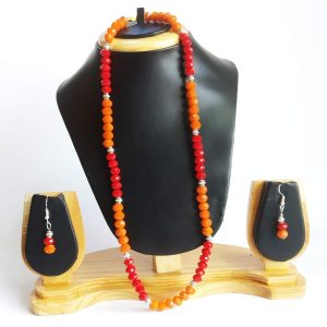red orange beads