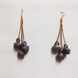 three star earrings
