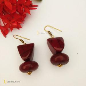 brown beads earrings