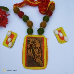 terracotta clay Rabindranath Tagore jewellery set