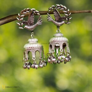 Flying bird with cage jhumka 2