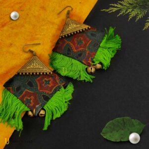 ajrak-cloth-earrings