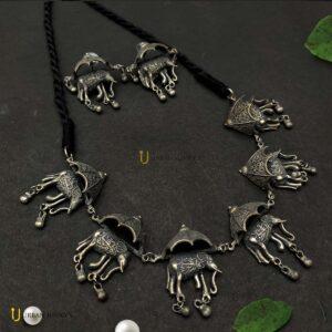 matte-finish-elephant-jewelley-set