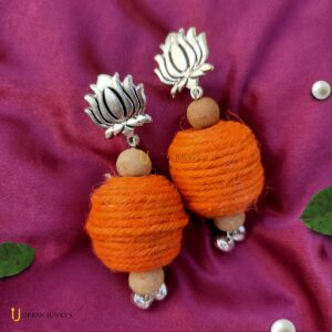 lotus-jute-earrings