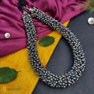black-polish-ghunghroo-ball-necklace