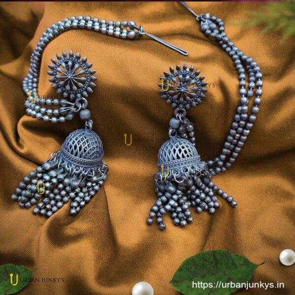 blackpolish-long-chain-jhumka