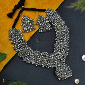 german-silver-ghunghroo-ball-necklace