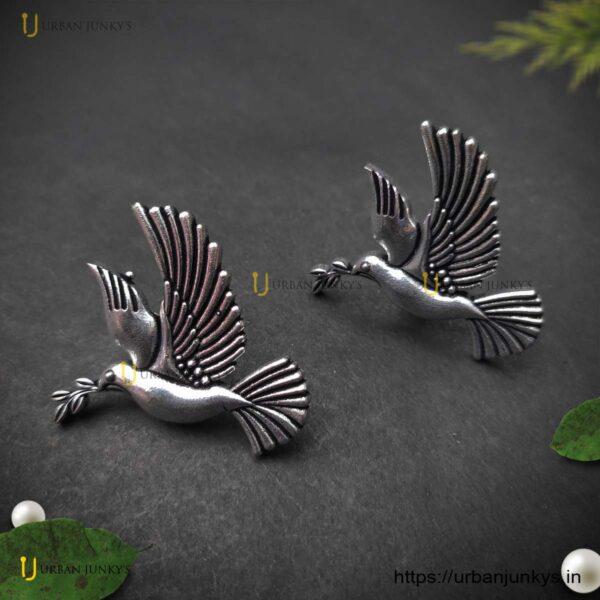 german-silver-bird-earrings