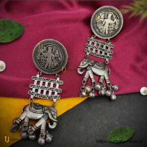 silver-lookalike-elephant-earrings1