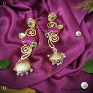 long-earrings-with-brass-druzzy-and-pearl