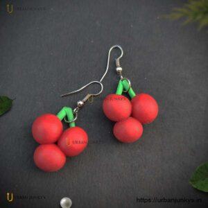 cherry shaped funky earrings