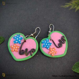 funky-love-earrings
