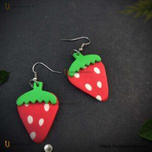 strawberry funky earrings
